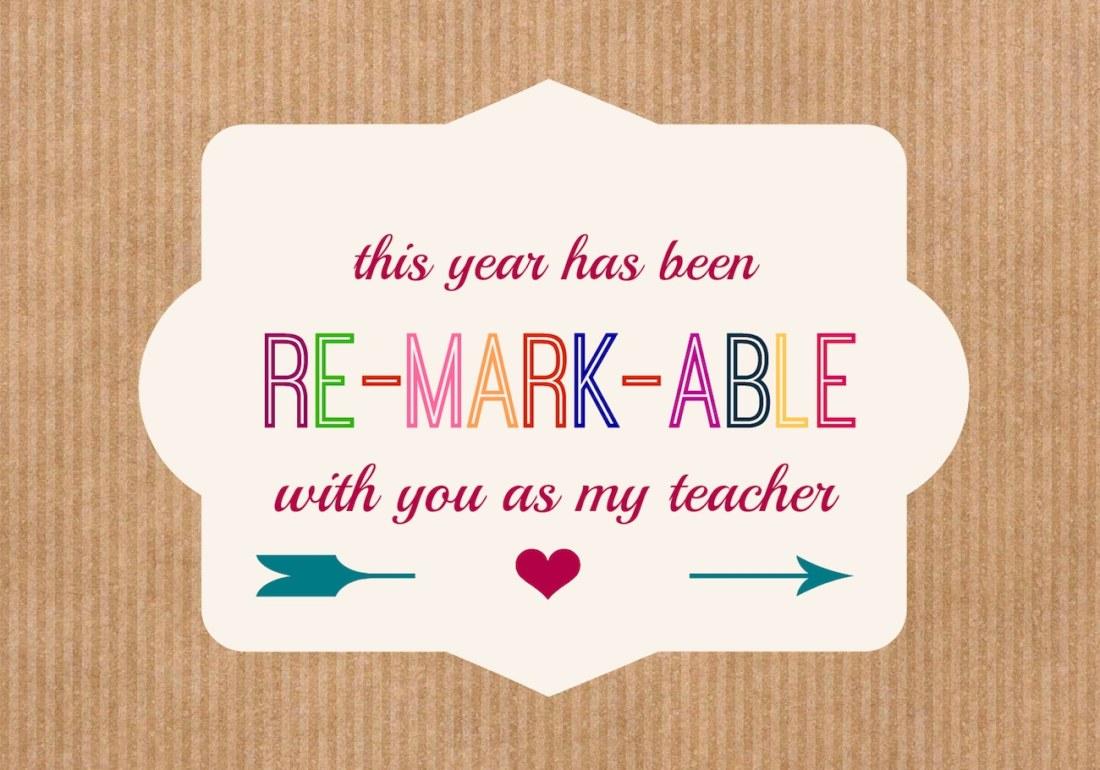 Free Printable Teacher Gift Tag