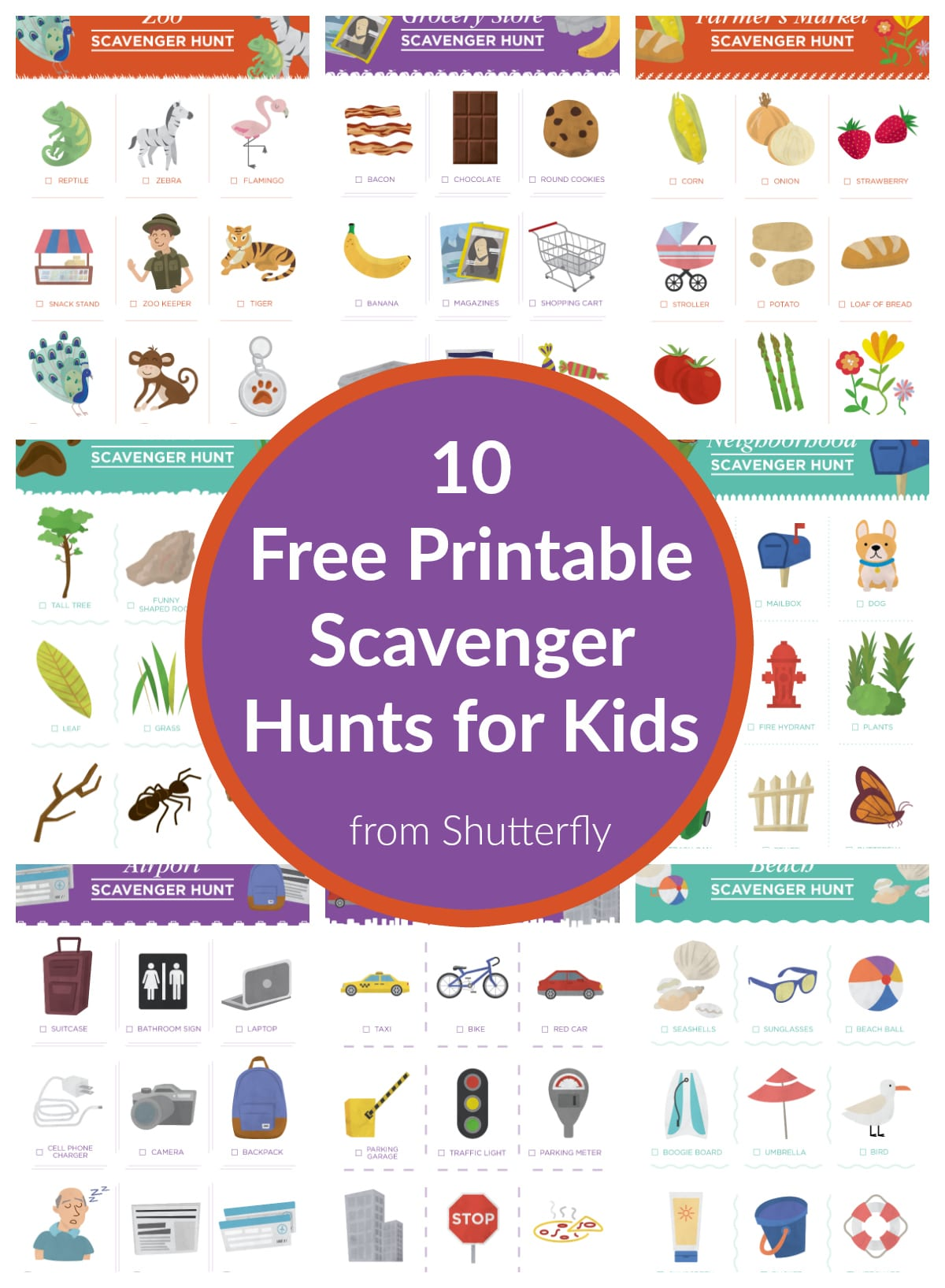graphic about Printable Scavenger Hunt known as 10 Free of charge Scavenger Hunt Printables for Small children in opposition to Shutterfly