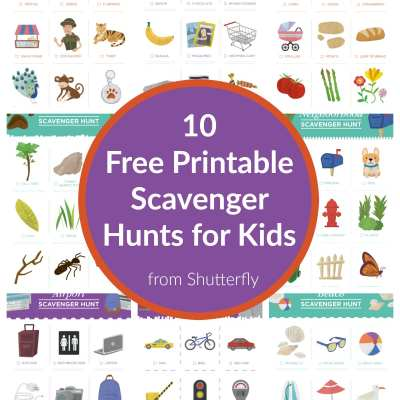 Free Scavenger Hunt Printables for kids