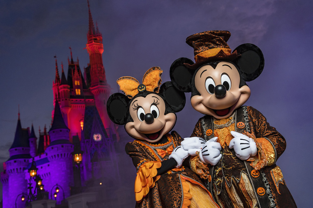 "Eerie lighting, fall décor and Mickey Mouse-shaped Jack-O-Lanterns set the stage at Magic Kingdom for Mickey's Not-So-Scary Halloween Party. The family-friendly after-hours event offers trick-or-treating, meet and greets with favorite characters in costume, plus the must-see ""Mickey's Boo-to-You Halloween Parade"" and ""Happy HalloWishes"" fireworks display. Mickey's Not-So-Scary Halloween Party is a special ticket event and takes place on select nights each fall at Walt Disney World Resort in Lake Buena Vista, Fla."
