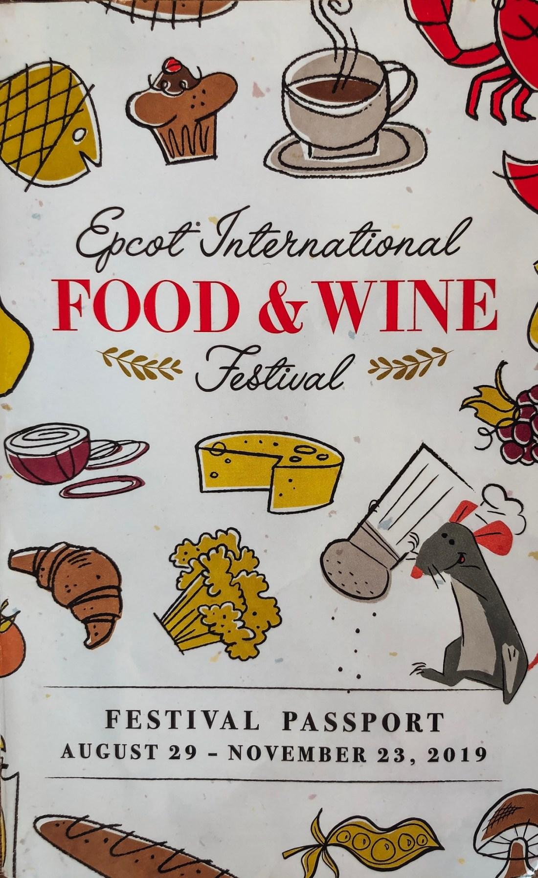 Epcot International Food and Wine Festival menus
