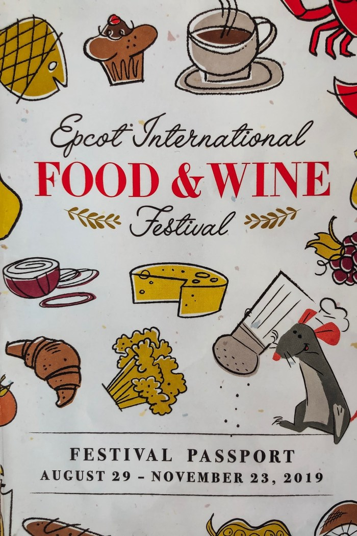 Disney World: Epcot International Food and Wine Festival Menus