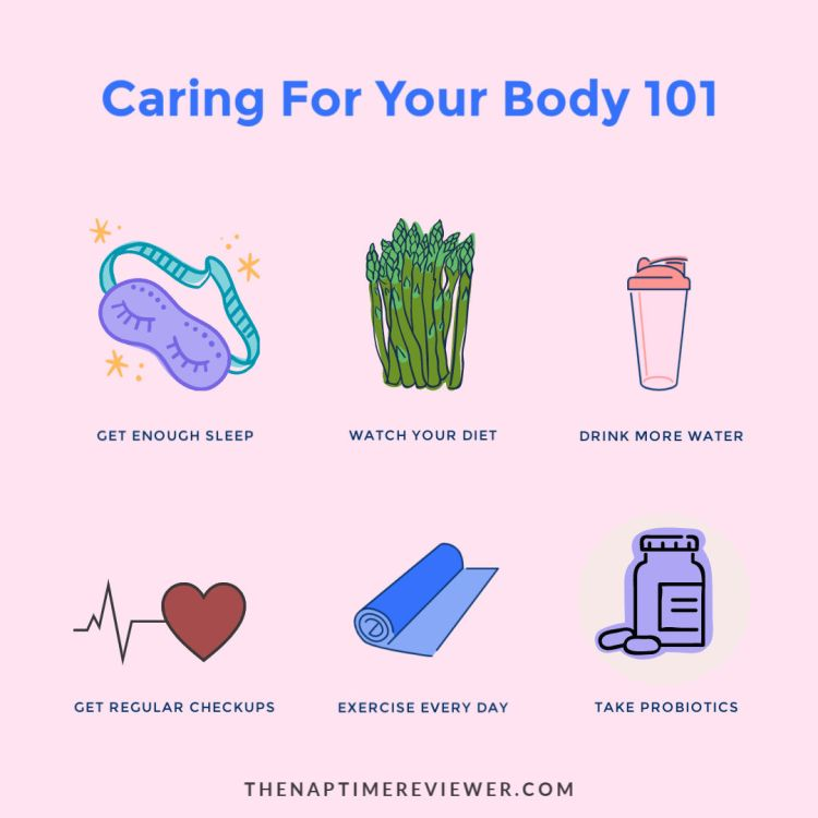 Caring for your body - an infographic