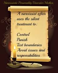 From a narcissist Getting silent treatment the