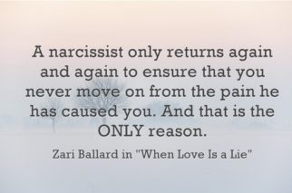 What happens when a narcissist gets caught lying