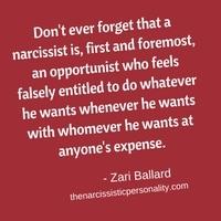 How do i break narcissist