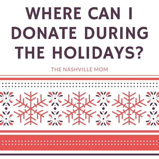 where can I donate during the holidays in Nashville?