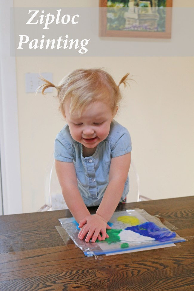 10 indoor play ideas: ziploc paint activity