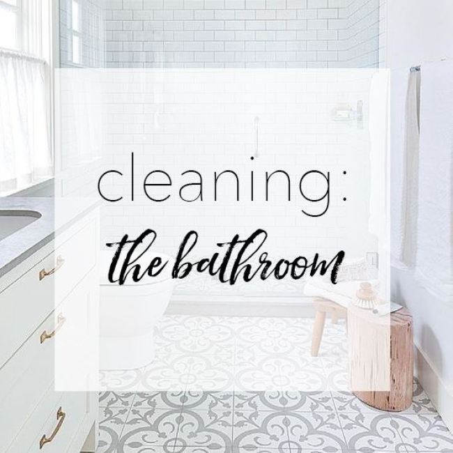 chemical-free cleaning bathroom