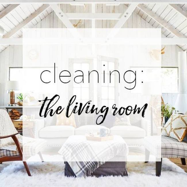 chemical-free cleaning living room