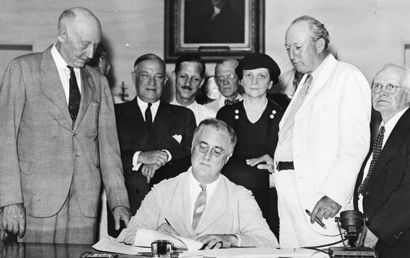 August 14 President Franklin Roosevelt Signs The