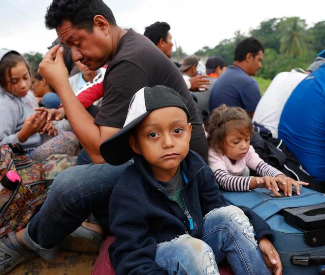 Central American Migrants Get A Ride On The Bed Of A Truck In Donaji Oaxaca Mexico On November   Ap Photo Marco Ugarte
