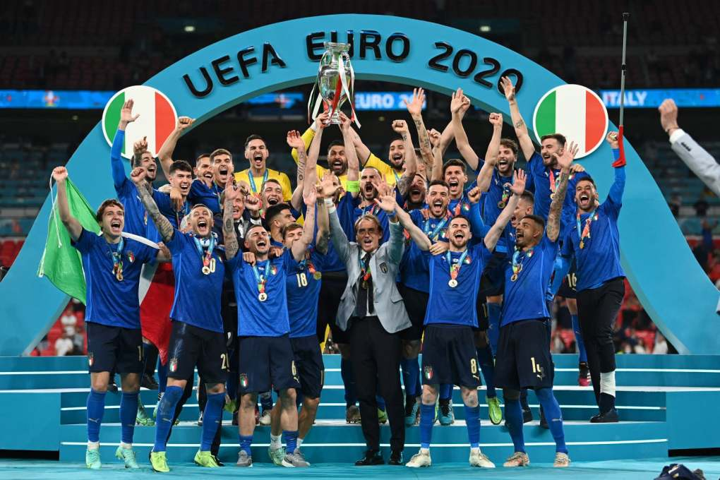 The National: Italy with the Euro 2020 trophy