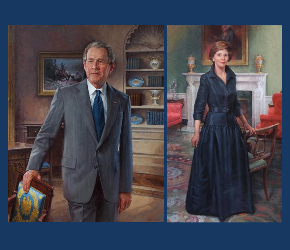 presidential portraits unveiled