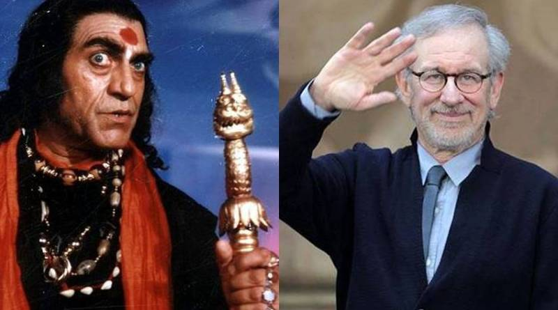 Amrish Puri and Steven Spielberg
