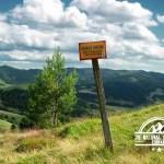 self guided hiking, Carpatian mountains, Poland, border in magura spiska