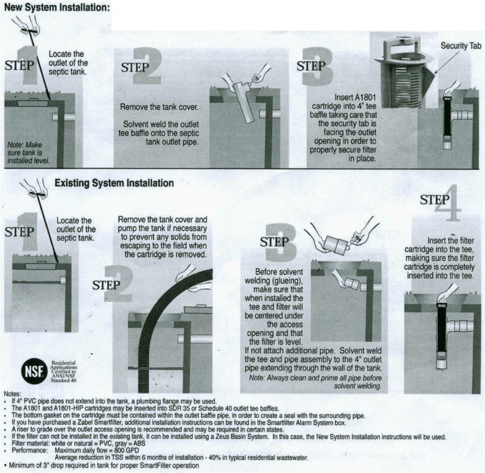 medium resolution of septic sieve filter for sewage tank installation instructions