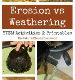 Erosion vs Weathering ~ Awesome Science STEM Activities - The Natural  Homeschool [ 1250 x 650 Pixel ]