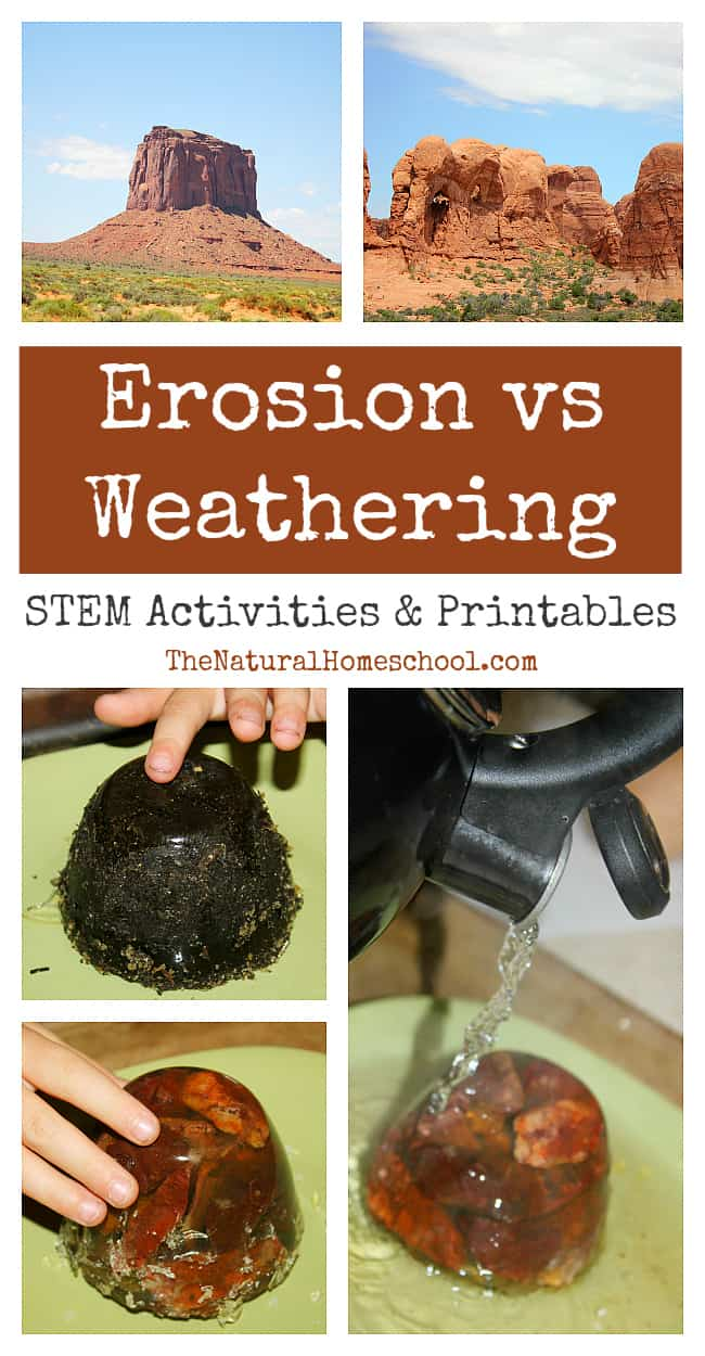 hight resolution of Erosion vs Weathering ~ Awesome Science STEM Activities - The Natural  Homeschool