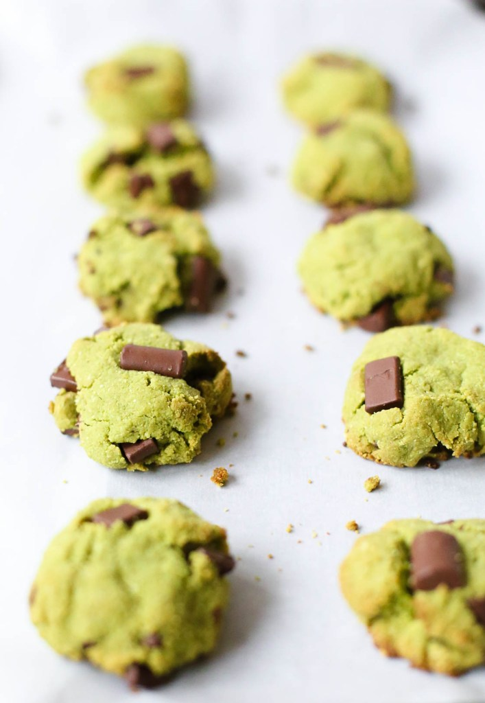 matcha mint chocolate cookie