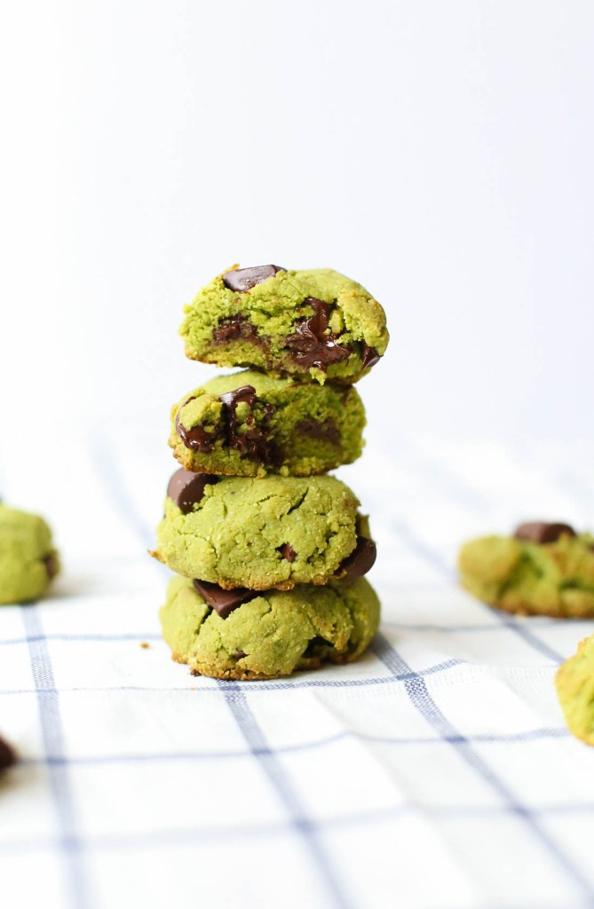 matcha mint chocolate chip cookie