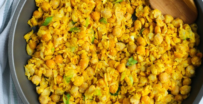 MISO & TURMERIC CHICKPEA SCRAMBLE (Laura Wright @thefirstmess)