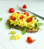 OPEN-FACED EGG SALAD WITH SKYR YOGURT AND DILL