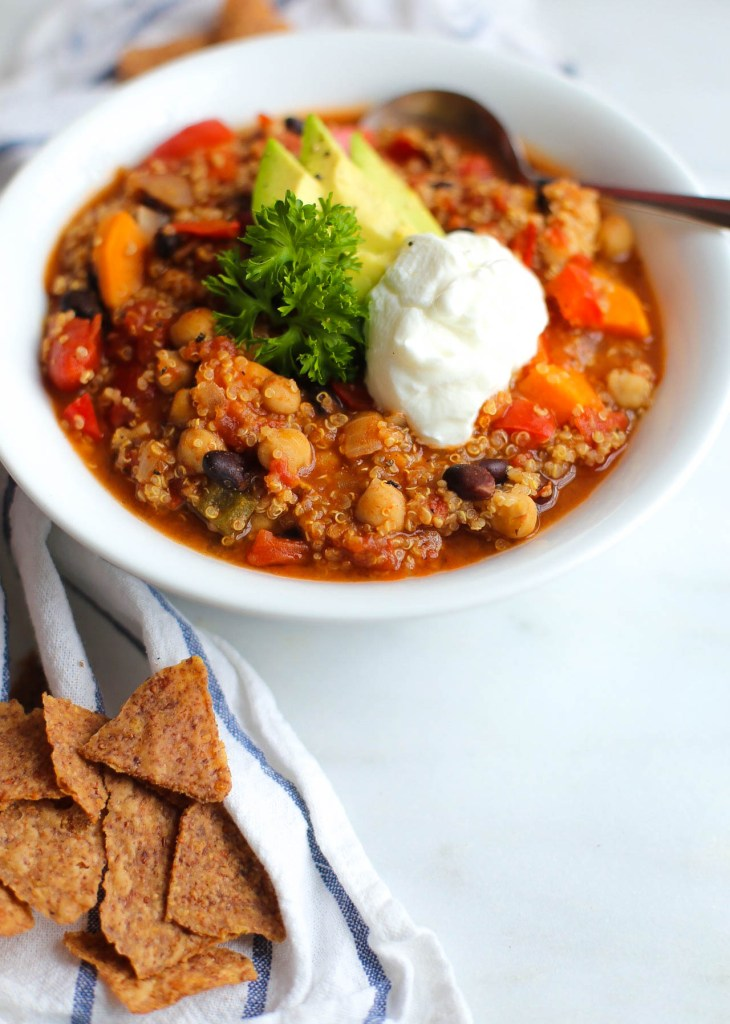 vegetarian, chili, dinner, slow-cooker, healthy recipes