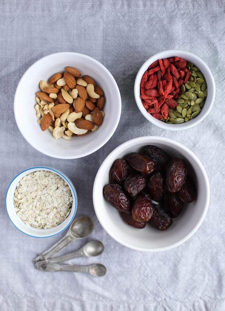 healthy, goji, nut, granola bars