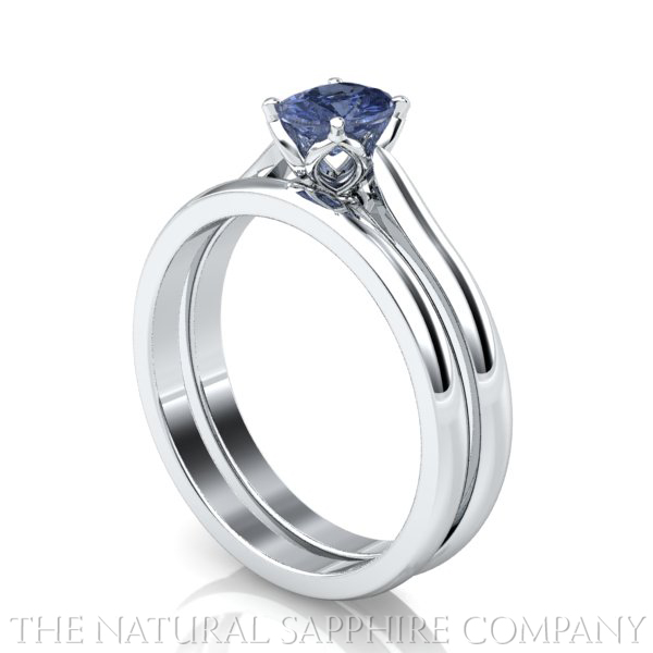 Natural Sapphire Rings And Matching Wedding Bands The