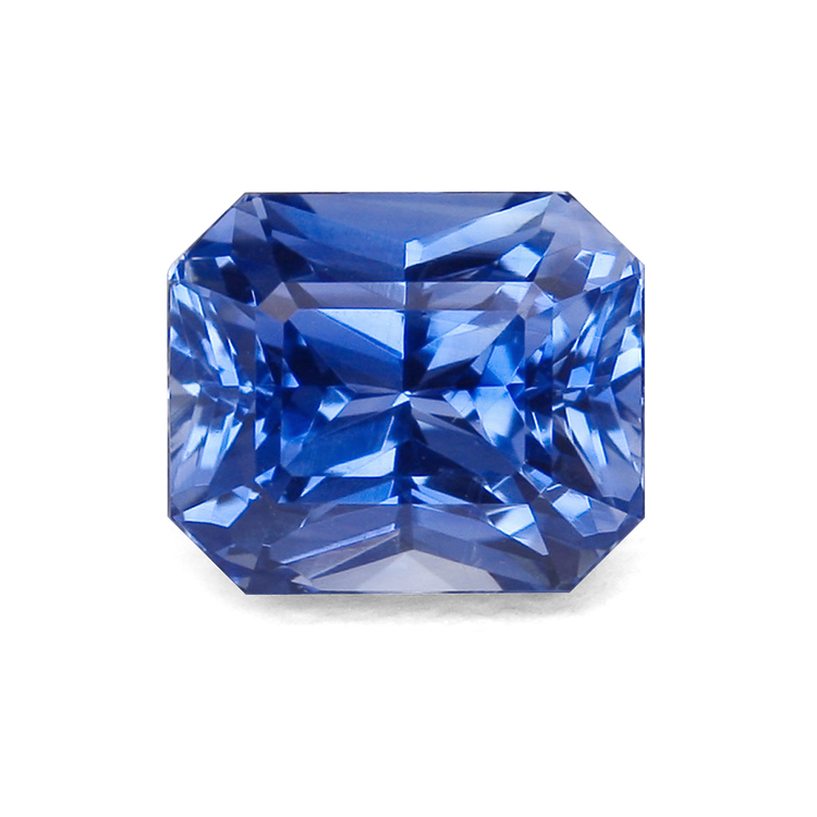 blue radiant cut sapphire  Education