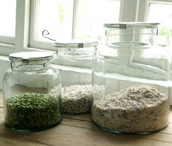 Nkuku Recycled Glass Storage Jars