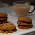 Flourless Peanut Butter Choc Chip Biscuits