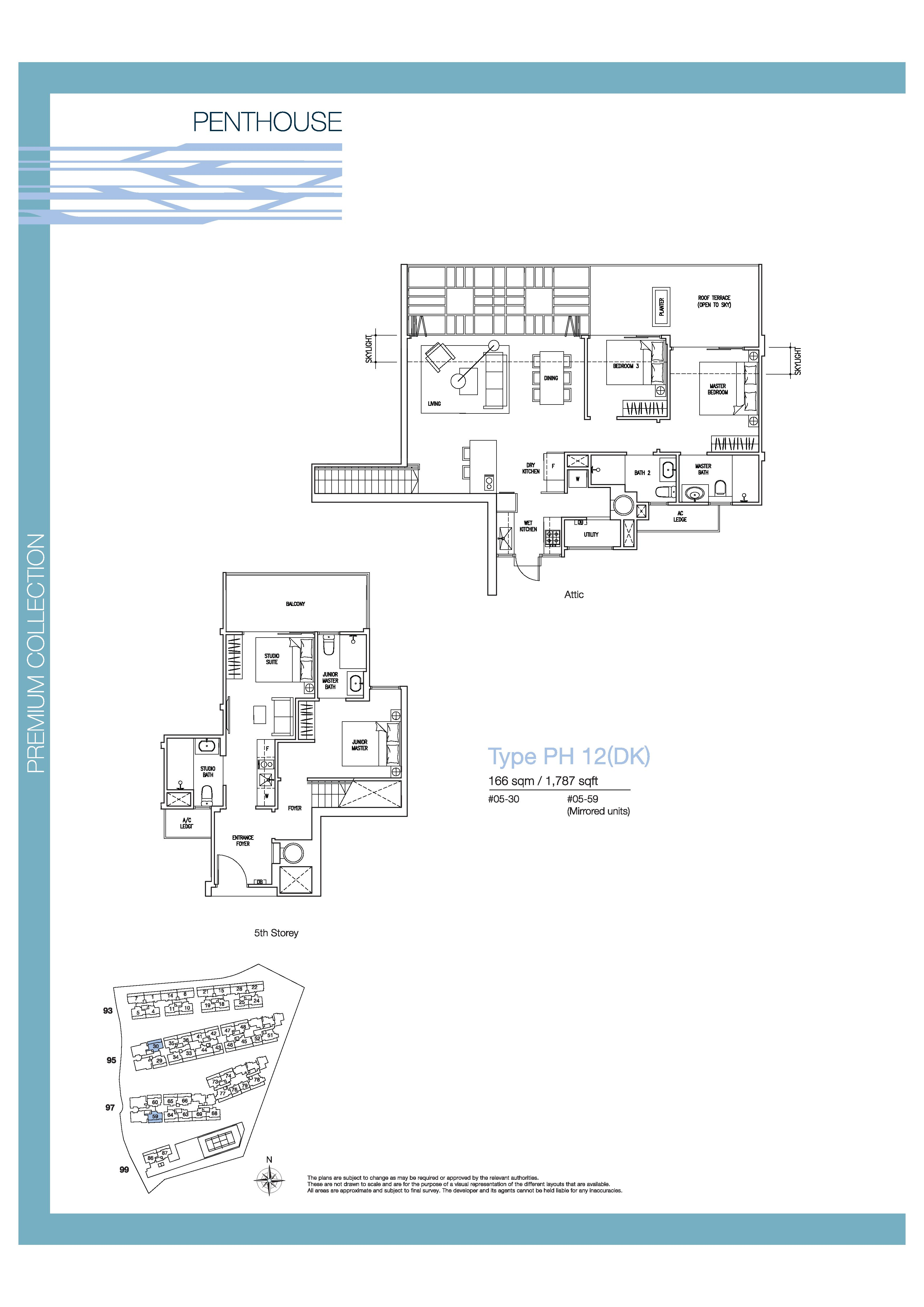 The Nautical 4 Bedroom Dual Key Penthouse Floor Plans Type PH12(DK)