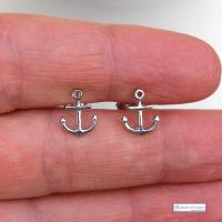 Anchor Sterling Silver Stud earrings - nautical Gift - THE ...