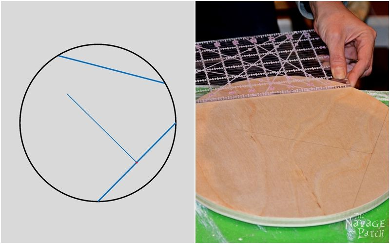 How to Find the Center of a Circle   The easy way of finding the center of a circle   A step-by-step tutorial for finding the center of a circle   TheNavagePatch.com