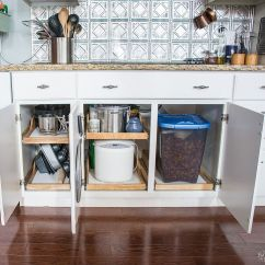 Shelves For Kitchen Cabinets Seating Ideas Diy Slide Out Tutorial The Navage Patch Pull Shelf