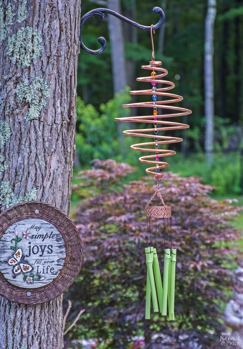 How To Make A Wind Chime Coiled Copper Wind Chimes The Navage Patch