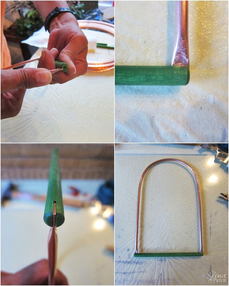 DIY Hummingbird Perch   How to make a hummingbird swing from copper pipe   How to attract hummingbirds   Upcycled copper pipe   Repurposed pipe   Easy garden diy   #TheNavagePatch #DIY #gardens #upcycled #repurposed #hummingbird #garden #easydiy   TheNavagePatch.com