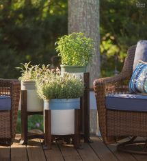 Pottery Barn Plant Stand