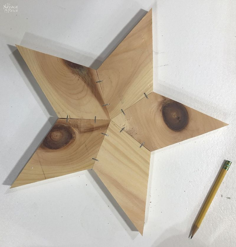 diy rustic wood star lights with free