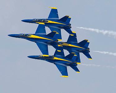 The Blue Angels at NAS JAX AIr Show