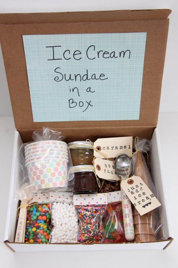Ice Cream Sundae Box from Smashedpeasandcarrots.com