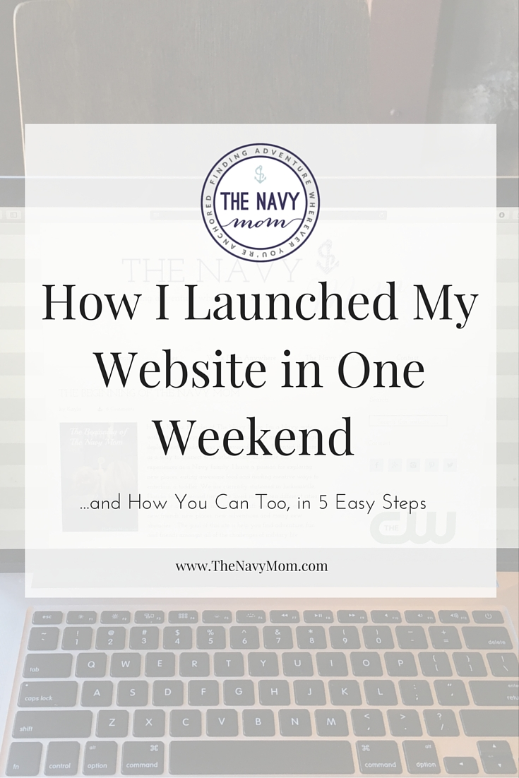 How I Launched My Website in One Weekend and How You Can Too in 5 Easy Steps