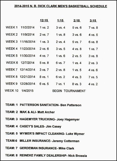 DCML Schedule 2014