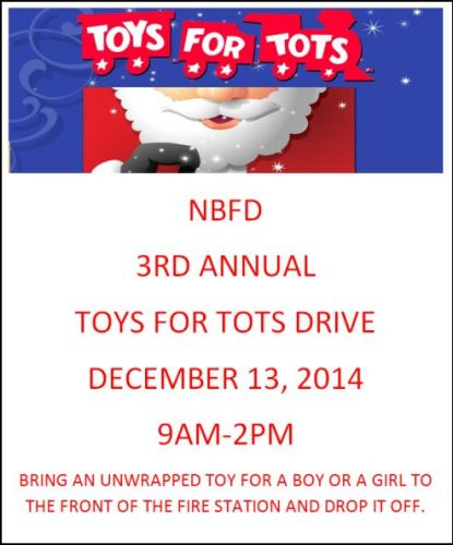NBFD TOYS for Tots 2014 flyer