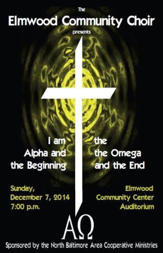 Elmwood Community Choir Chirstmas 2014 flyer