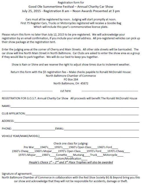 GOST FLYER 2015 Car Show Pre-registration form