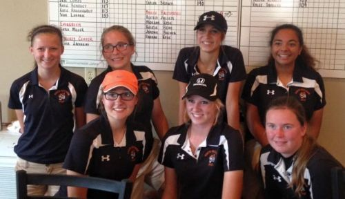 Lady Tiger Golf at Sectional 2015
