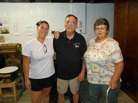 NBOAHS President Courtney Mays, Rick Mays and Past President Janice Emahiser